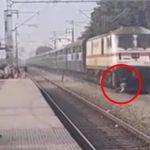 【衝撃映像】列車が近づく線路を横切ろうとした男性、間に合わずに轢かれてしまう・・・。