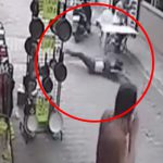 【衝撃映像】バランスを崩して5階から転落した女性、送電線に触れて感電死・・・。