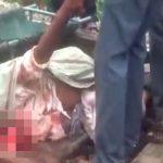 【閲覧注意】列車に轢かれた男の顔、グチャグチャになって死んだグロ動画・・・。