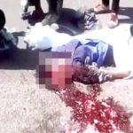 【閲覧注意】スクーターに乗っていた女性、脳が飛び散って死亡したグロ動画。