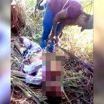 【閲覧注意】殺した男の身体をゆっくりとバラバラに切断するグロ動画。
