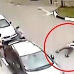 【衝撃映像】通りを歩いてたら突然空から人が降ってきたらトラウマになるわ・・・。