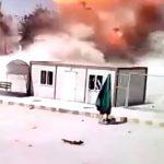 【衝撃映像】車爆弾により吹き飛ばされる人間。2アングルの映像。