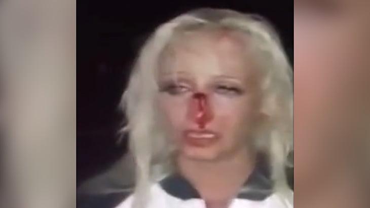 【衝撃映像】酔っ払った女ドライバーさん、バイカーと衝突するも「私は無実!」と走って逃げてしまう・・・。