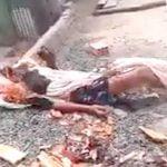 【閲覧注意】レイプ犯の男、生きたまま燃やされてしまったグロ動画・・・。