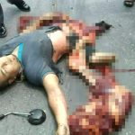 【閲覧注意】トラックと衝突事故を起こしたバイカーさん、ヤバい姿になって死亡・・・。