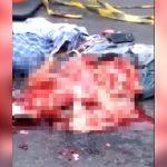 【閲覧注意】自転車に乗っていた男性、バスに轢かれ内臓が飛び出して死亡したグロ動画。