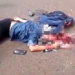 【閲覧注意】電話しながら道路を横断しようとした女の子、頭を潰されてしまう・・・。