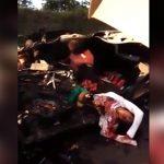 【閲覧注意】激しい事故現場。ぐちゃぐちゃの車体に潰された人間・・・。