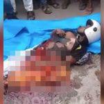 【閲覧注意】バイク事故により下半身が切断され内臓が飛び出した男のグロ動画・・・。