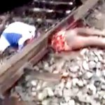 【閲覧注意】列車に胴体真っ二つにされた男、まだ生きており起き上がろうとするグロ動画。