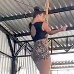 ロープクライム中、女性の右腕が折れてしまうアクシデント。