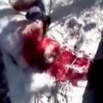 【閲覧注意】マチェーテで身体をバラバラにされる男のグロ動画。