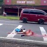 【閲覧注意】事故で下半身がグチャグチャになった人間のグロ動画。