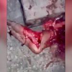 【閲覧注意】殺された男、線路の上に置かれ身体をグチャグチャにされたグロ動画・・・。