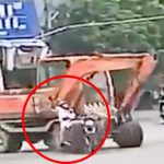 【衝撃映像】ショベルカーに頭を踏み潰されて死んだ男性・・・。