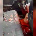 【閲覧注意】車を運転中に銃撃されて脳が飛び出して死んだ男のグロ動画・・・。