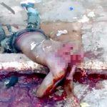 【閲覧注意】殺人犯の男、報復として首を切られて殺されてしまったグロ動画。
