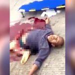 【閲覧注意】事故で下半身がグチャグチャになった男がまだ生きているグロ動画・・・。