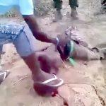 【閲覧注意】ナイフで首を切られ、身体に何度もナイフを突き刺される男のグロ動画・・・。