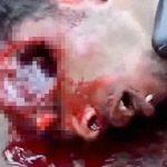 【閲覧注意】ヘッドショットされた男が最後の呼吸を繰り返すグロ動画・・・。