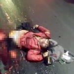 【閲覧注意】バイクに乗っていた女性、事故で下半身が引き裂かれてしまったグロ動画・・・。