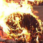 【閲覧注意】生きたまま焼かれてしまう2人の兵士を撮影した高画質グロ動画。