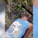【閲覧注意】マチェーテで切断された首から勢いよく血が噴き出すグロ動画・・・。