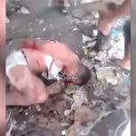 【衝撃映像】縛られた男、木の棒で何度も殴られ腕と脚を折られてしまう・・・。