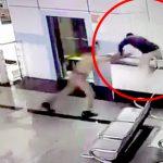 警察に連行されていた男、飛び降り自殺してしまう。