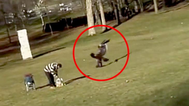 【衝撃映像】小さな男の子、鷲に連れ去られそうになってしまう・・・。