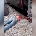 【閲覧注意】列車に真っ二つにされてしまった男性のグロ動画・・・。