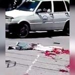 【閲覧注意】トラックに轢かれてペラペラになってしまった男性のグロ動画・・・。