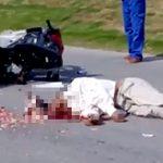 【閲覧注意】セメントを積んだトラックに頭を潰されてしまった男のグロ動画。
