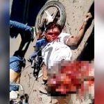 【閲覧注意】三輪タクシーの事故で2人の男性が死亡したグロ動画。