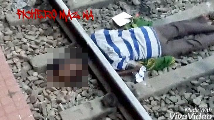 【閲覧注意】列車に首を切断されてしまった男のグロ動画。