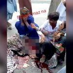 【閲覧注意】事故で頭が潰れた男性の前で泣き叫ぶ女性たち。