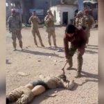 【閲覧注意】ISISの末路。斧で顔を破壊されるグロ動画。