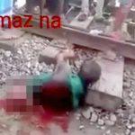 【閲覧注意】列車に轢かれて上半身だけになってしまった男が動き回るグロ動画。
