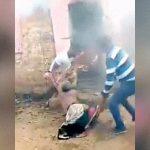 【衝撃映像】燃えた家の中に放り投げられてしまうお婆ちゃん。