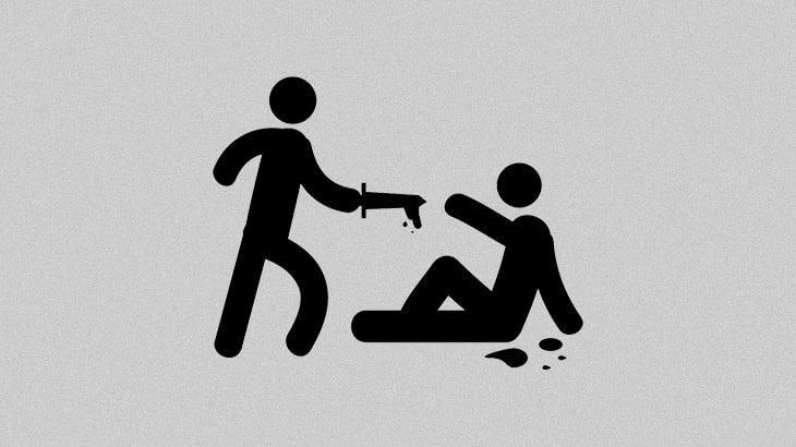 【衝撃映像】路上で妻と口論になった男、ナイフで妻を刺し殺してしまう・・・。