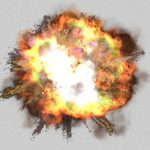 【衝撃映像】空高く吹き飛ばされてしまう2人の兵士。
