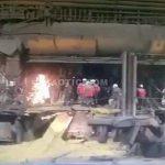 【衝撃映像】鉄鋼工場での大爆発により複数人の作業員が死亡したアクシデント映像。