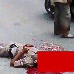 【閲覧注意】事故で頭を潰されてしまった男性のグロ動画。