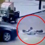 下水道を工事していた作業員の男性、車に轢かれて死亡・・・。