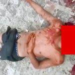 【閲覧注意】男性の顔を鉄パイプで殴って殺すグロ動画。