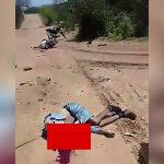 【閲覧注意】路上に倒れた、頭が割れて死んだ男性のグロ動画。