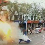 【衝撃映像】とあるお店のガス爆発の瞬間、威力高すぎ・・・。