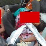 【閲覧注意】トラックに突っ込んだ車内、乗っていた4人が死亡したグロ動画。