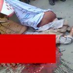 【閲覧注意】バイクに乗っていた男性、事故で内臓が飛び散って死亡したグロ動画。